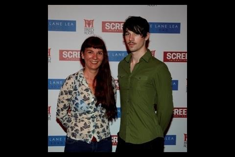 Producer Melanie Coombs with Star of Tomorrow animator Stewart Comrie